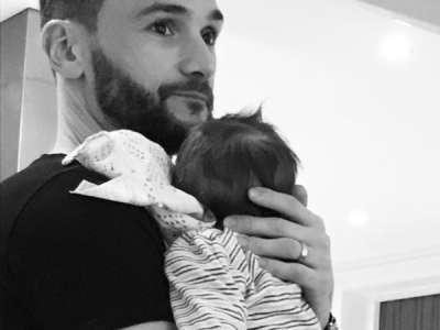 Hugo Lloris jeune papa: ce cliché trop mignon avec son bébé Léandro