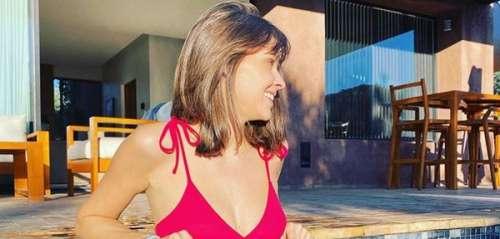 Ophélie Meunier sublime en maillot de bain en vacances au Maroc