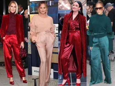 Céline Dion, Lea Michele, Jennifer Lopez: le pantalon en soie est partout