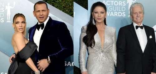 Jennifer Lopez et Alex Rodriguez, Catherine Zeta-Jones et Michael Douglas : zoom sur les couples des SAG Awards 2020