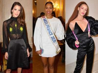 Iris Mittenaere, Clémence Botino... Les miss se pressent à la Fashion Week Haute Couture