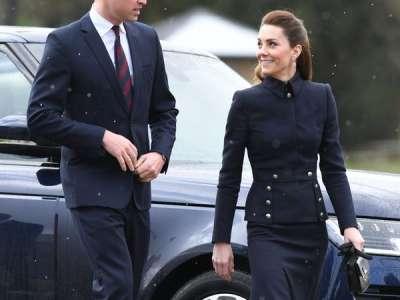 Kate Middleton fait une rare sortie en noir avec une veste militaire signée par son créateur fétiche