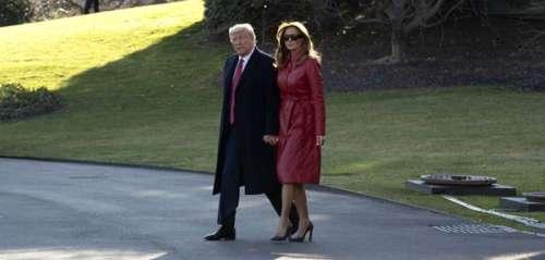 Melania Trump très rock: elle arbore un trench rouge en cuir