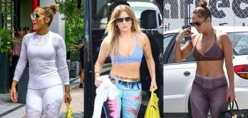 Jennifer Lopez : retour sur les tenues de sport les plus stylées et improbables de la star
