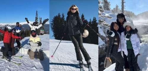 Les Beckham, Sylvie Tellier, Læticia Hallyday… Les people s'éclatent au ski!