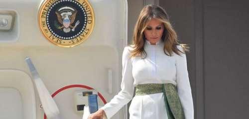 Melania Trump très élégante en blanc, elle fait honneur à l'Inde pour un voyage officiel