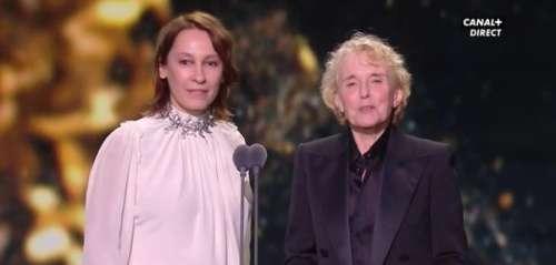 Claire Denis, qui a remis le César du Meilleur réalisateur à Roman Polanski, s'exprime :