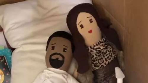 North, la fille de Kim Kardashian et Kanye West, a construit une maison de quarantaine pour des poupées à l'effigie de ses parents