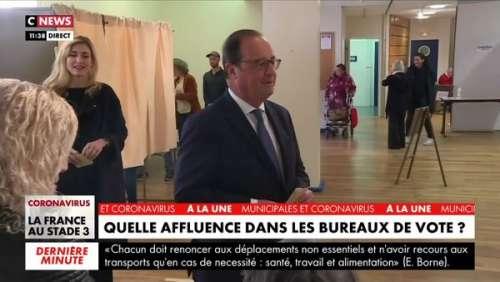 Municipales 2020 : accompagné de Julie Gayet, l'ancien président François Hollande a voté