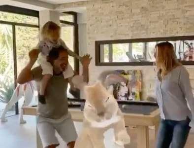 Ingrid Chauvin partage une vidéo déjantée avec son mari et leur fils Tom (VIDEO)