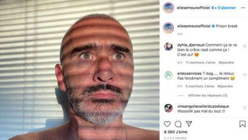 Elie Semoun crâne rasé : il partage un cliché de son nouveau look