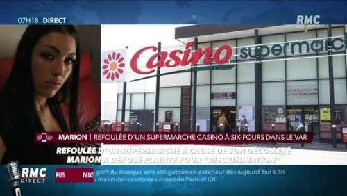 Une femme refoulée d'un supermarché pour un décolleté