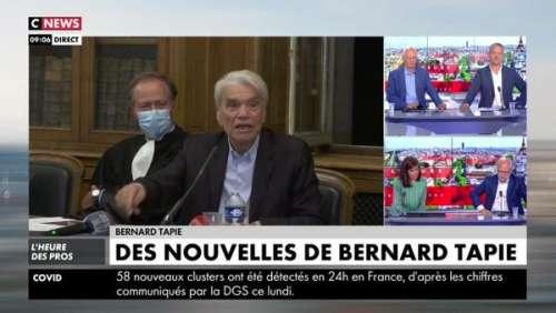 Bernard Tapie, combatif comme jamais, fait une rare apparition: