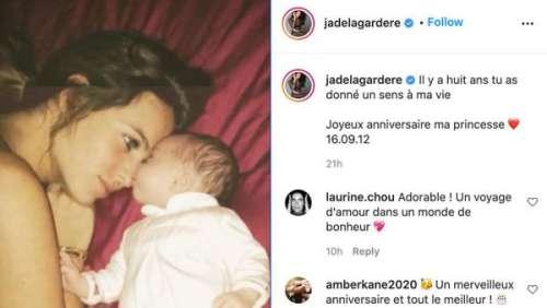 Jade Lagardère partage d'adorables photos pour célébrer l'anniversaire de sa fille Livia