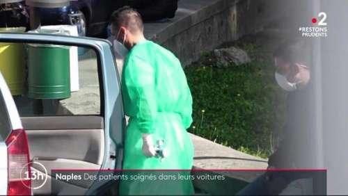 Patients Covid soignés dans leur voiture : les images très fortes du JT de France 2