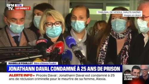 Procès Daval : les larmes de la mère d'Alexia après la condamnation de Jonathann (VIDÉO)