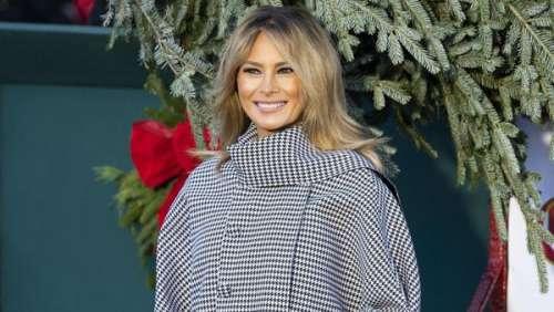 Melania Trump ultra élégante en manteau pied-de-poule : la First Lady compte être stylée jusqu'au bout