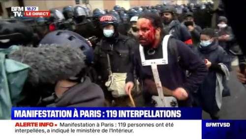 Manifestations à Paris : BFMTV rectifie son erreur après la divulgation d'une fausse information sur un homme en sang