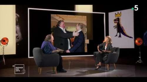 Gérard Depardieu défend Vladimir Poutine et s'énerve face à ClaireChazal