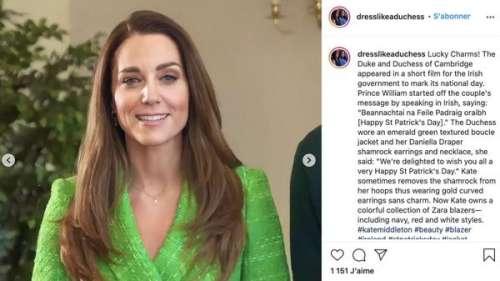 Kate Middleton tout sourire : ce tailleur vert ultra flashy qu'elle porte à bon escient