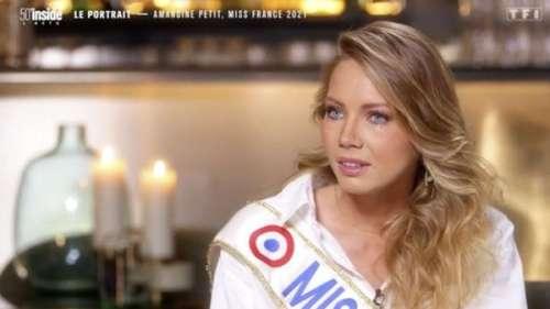 Amandine Petit (Miss France 2021) émue aux larmes en évoquant son sacre le jour de l'anniversaire de son père