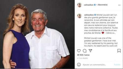 Céline Dion : son émouvant hommage au chanteur Michel Louvain, mort à 83 ans
