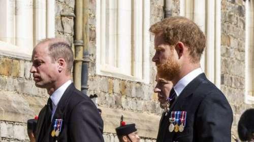 Obsèques du prince Philip : c'est William qui a demandé à ne pas être à côté de Harry !
