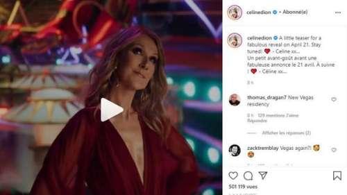 Céline Dion : sa fabuleuse annonce qui crée l'intrigue sur les réseaux