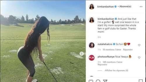 Kim Kardashian : ces photos qu'elle partage sur Instagram où elle assure au golf