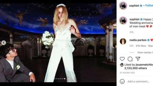 Sophie Turner : l'actrice partage des photos inédites de son mariage à Las Vegas avec Joe Jonas
