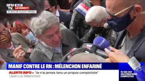 Jean-Luc Mélenchon enfariné : deux hommes attendus au tribunal