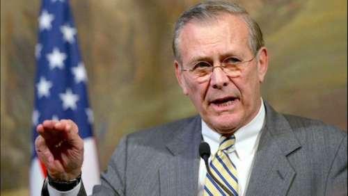 L'ex-secrétaire d'Etat américain Donald Rumsfeld est mort