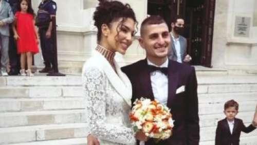 Marco Verratti : le joueur du PSG s'est marié avec la top Jessica Aidi, découvrez les images