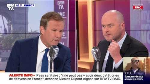 Nicolas Dupont-Aignan : gros moment de malaise sur BFMTV après ses propos sur l'antisémitisme