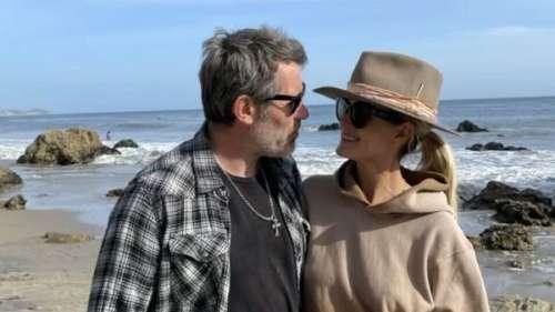Laeticia Hallyday et Jalil Lespert amoureux : la future mariée pose pour lui à la mer