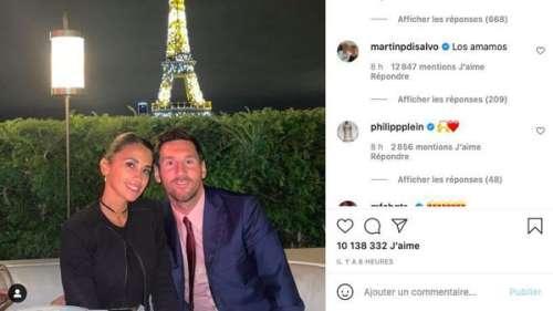 Lionel Messi et Antonella Roccuzzo amoureux à Paris : ce cliché surprise de leur soirée partagé par le champion