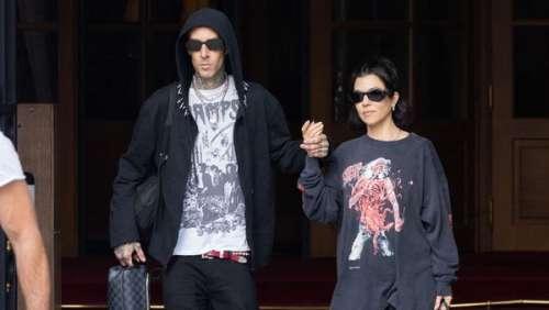 Kourtney Kardashian et Travis Barker en virée romantique à Paris