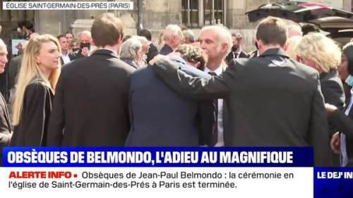 Obsèques de Jean-Paul Belmondo : les images poignantes de son fils Paul qui console sa famille effondrée