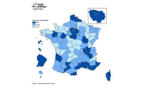 Coronavirus : la carte des départements où le virus circule le plus