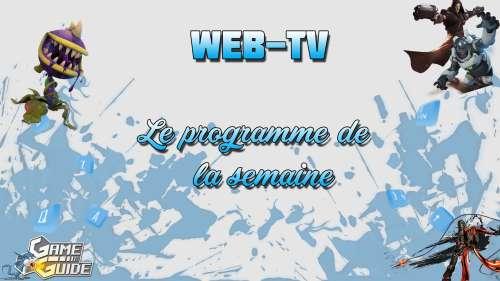 Web-TV – Programme de la semaine (27/10)
