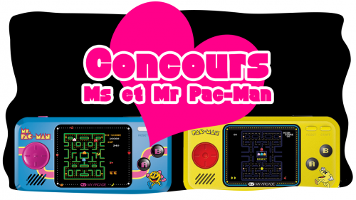 Concours St Valentin – Ms et Mr Pac-Man Pocket Players