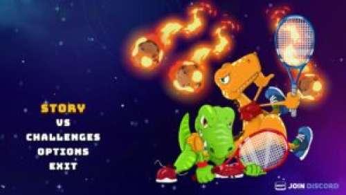 Dino Galaxy Tennis – Jouons au tennis avec des dinosaures !
