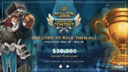 Million Lords – 30 000$ de cashprize pour fêter ses 400k téléchargements