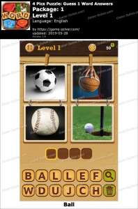 4 Pics Puzzle Guess 1 Word Answers