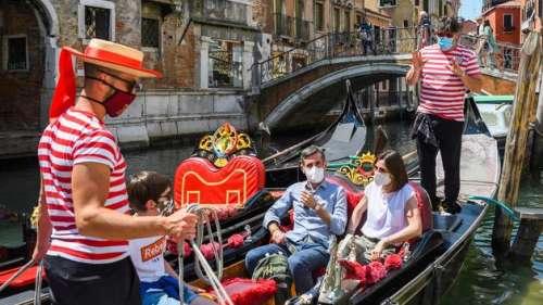 Avec le déconfinement les touristes reviennent à Venise
