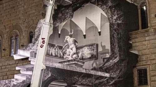 L'artiste JR rouvre le musée de Florence par un gigantesque trompe-l'œil