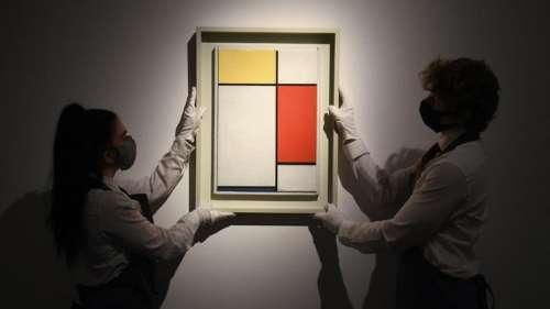 Une toile de Mondrian vendue aux enchères après ne pas avoir été montrée pendant 30 ans