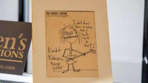 Une autoportrait enfantin de Kurt Cobain s'envole à 280.000 dollars aux enchères