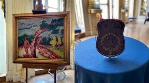 Dérobés par les nazis, un tableau de Pechstein et un sac de prières restitués à deux familles juives