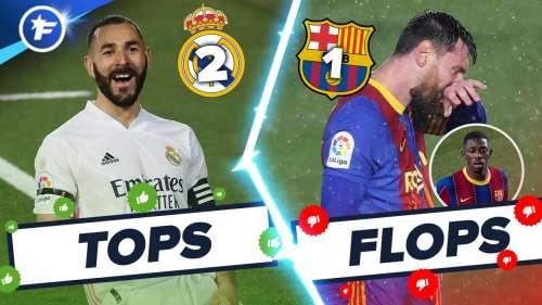 Real Madrid-Barça (2-1) : Benzema illumine le Clasico, Dembélé et Messi ratent tout   Tops et Flops